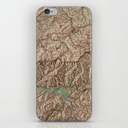 Vintage Great Smoky Mountains National Park Map (1963) iPhone Skin