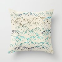 mountains Throw Pillows featuring Mountains  by rskinner1122