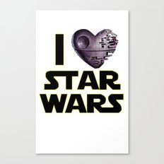 Love Star Wars  Canvas Print