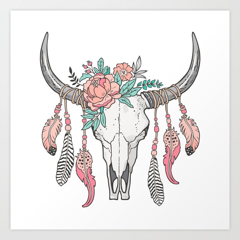 Cowskull Art Prints Society6