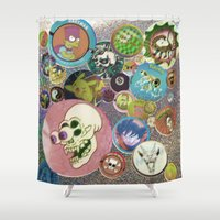 old school Shower Curtains featuring Old School by jajoão