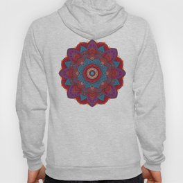 3D Mandala with Red Lace Hoody