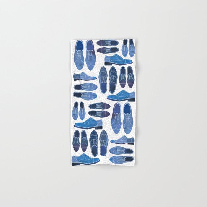 Blue Brogue Shoes Hand & Bath Towel