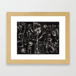 MM - 001 - Charcoal  Framed Art Print