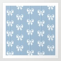 bows Art Prints featuring Bows by Pink Berry Patterns