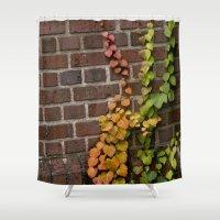 climbing Shower Curtains featuring Climbing by C. Wie Design