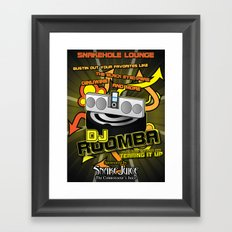 DJ Roomba: Back From the Dead and Tearing It Up! Framed Art Print