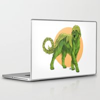 sith Laptop & iPad Skins featuring Wolfhound Cu-Sith by AlliePets