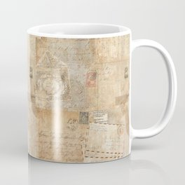 Vintage French Script & Letters Coffee Mug