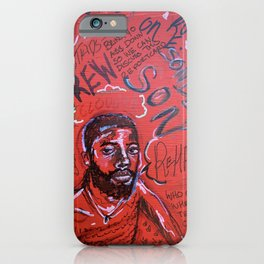sonderson,brent faiyaz,poster,art,wall art,decor,music,rnb,lyrics,colourful,colorful,cool,dope,post iPhone Case