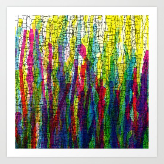 stripes traffic 2 Art Print