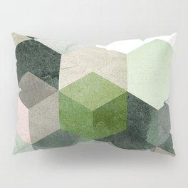 Modern Green Hexagon Art 6 Pillow Sham