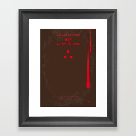 No148 My AVP minimal movie poster Framed Art Print