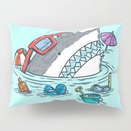 Beach Party Shark Pillow Sham