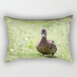 The walking Duck Rectangular Pillow