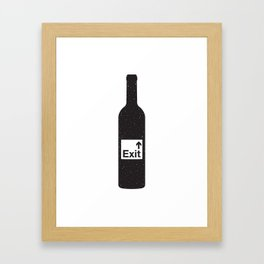 NOTHING #4 - Bottoms Up Framed Art Print