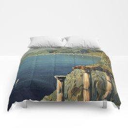 Vintage Taormina Sicily Italian travel ad Comforters