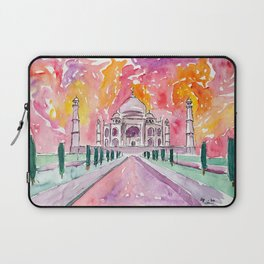 Taj Mahal - Colorful Crown of the Palace and Love Laptop Sleeve