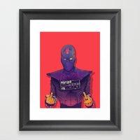 Foot Clan Framed Art Print