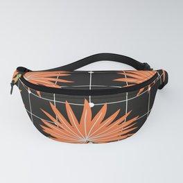 Orange palm checkered pattern Fanny Pack