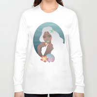 siren Long Sleeve T-shirts featuring Siren by viviennart