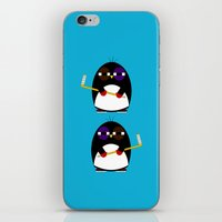hockey iPhone & iPod Skins featuring Hockey penguin by Jaxxx
