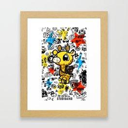 Cute Giraffe Framed Art Print