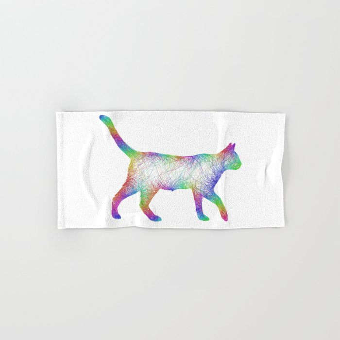 Rainbow cat Hand & Bath Towel