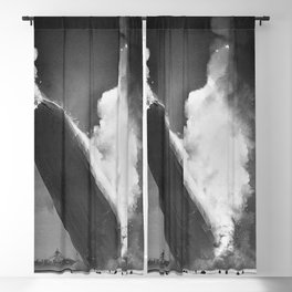 1937 New Jersey Crash of the Zeppelin LZ 129 Hindenburg black and white photography Blackout Curtain