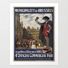 Vintage poster - Brussels Art Print