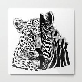 jaguar zebra monster Metal Print