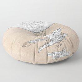 patent art Spalding Flying Machine 1889 Floor Pillow