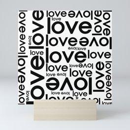 Love Repeated Typography Mini Art Print