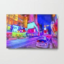 Pop Art Times Square Metal Print