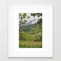 norway Framed Art Prints featuring norway by anjastensrud