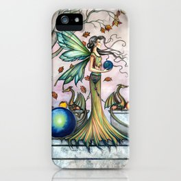 Hope Stones Fairy and Dragons Fantasy Illustration by Molly Harrison iPhone Case