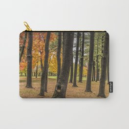 Fall City Park Scene in with Pine and Maple Trees Carry-All Pouch