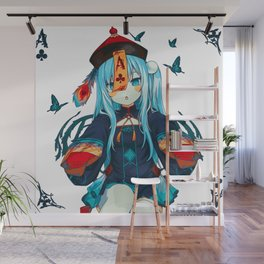 Ace of Clubs (Painting) Wall Mural