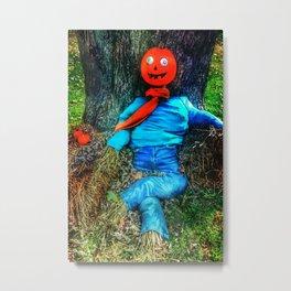 crazy eyes scarecrow Metal Print