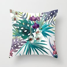 Tropical Floral Pattern 04 Throw Pillow