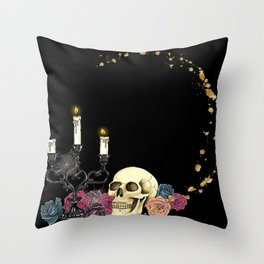 Dark skull Throw Pillow