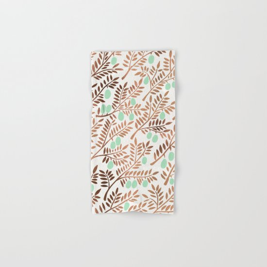 Olive Branches – Rose Gold & Mint Hand & Bath Towel