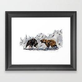 Bull and Bear Framed Art Print