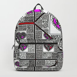Big hearted Love (pink and white) Backpack
