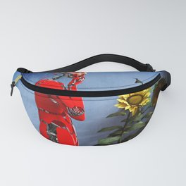 Red Robot visits the Sunflower Garden Fanny Pack