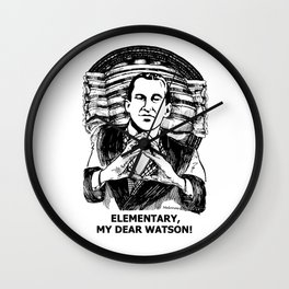 Murder & Mayhem / Britain's Consulting Detective by Peter Melonas Wall Clock