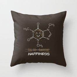 Caffeine Happiness Throw Pillow