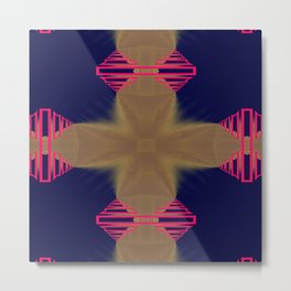 Pinkbrown(blue) Pattern 7 Metal Print