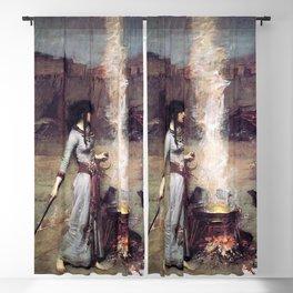 THE MAGIC CIRCLE - JOHN WILLIAM WATERHOUSE Blackout Curtain