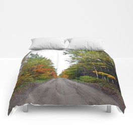 Forest Road in the Fall Comforters